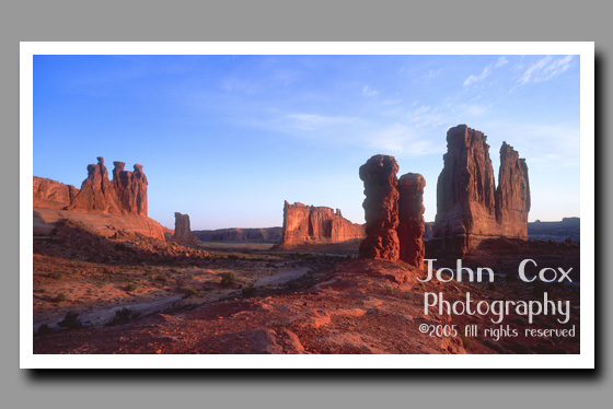 Courthouse Towers, Arches National Park, Utah