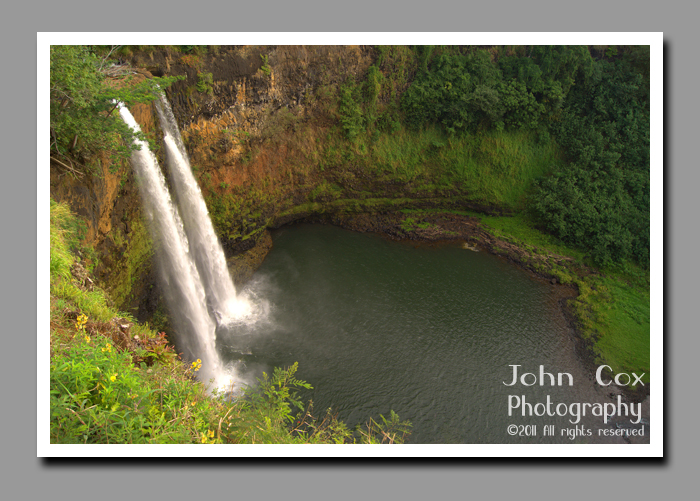 Wailua Falls in Wailua River State Park on the island of Kauai in Hawaii.