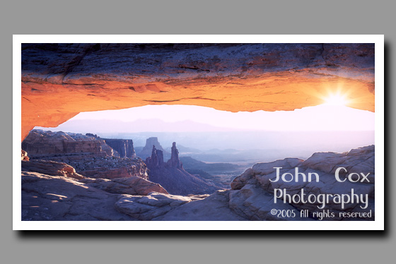 Sunrise through Mesa Arch, Arches National Park, Utah
