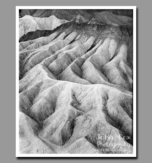 The weathered fans of Zabriskie Point stand as a beautiful testament to the beauties of erosion.