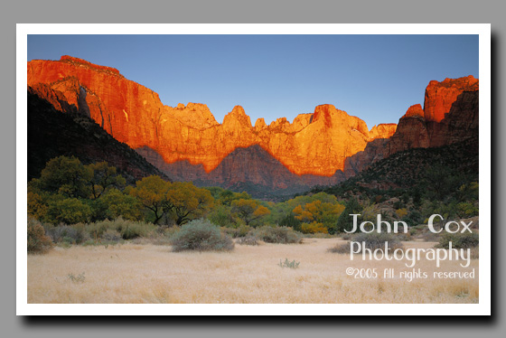 Towers of the Virgin, Sunrise, Zion National Park, Utah